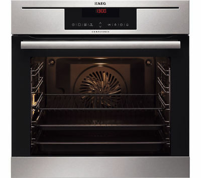 AEG Competence BP730402KM Built-In PyroluxePlus Single Oven, Stainless Steel