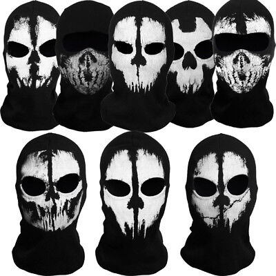New Call of Duty Ghost Skull Balaclava Cosplay Halloween Skateboard CS Face Mask
