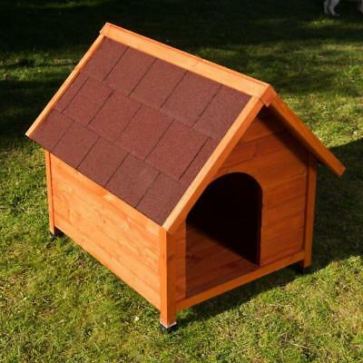 Wooden Classic Outdoor Pet Dog Kennel House Waterproof HINGED ROOF And Overhang