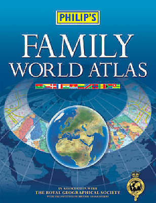 """VERY GOOD"" Philip's Family World Atlas, Philips, Book"