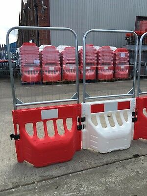 Water filled plastic crowd control barriers, Budha barrier