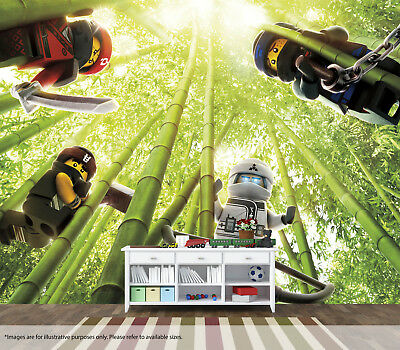Ninjago Movie Forrest Wall Mural Art Quality Pasteable Wallpaper Decal