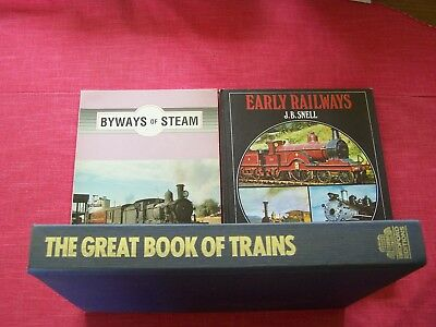 3 Train books, over 600 pages.
