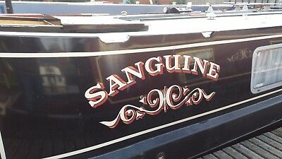 Sanguine 60ft Traditional Style Stern Narrowboat Currently Moored Outside Derby