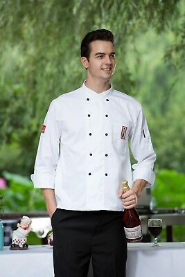 NEW Chef Uniform Coat Long Sleeves Pocket  Anti-dirty Restaurant Catering worker