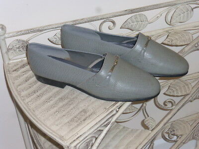 Vintage 1970's/70s/70's Grey Mock Snake Real Leather Curtess shoes size UK7