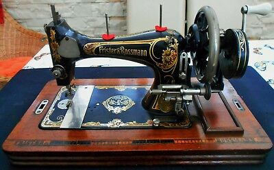 Very Old Vintage Frister And Rossmann Hand Crank Sewing Machine