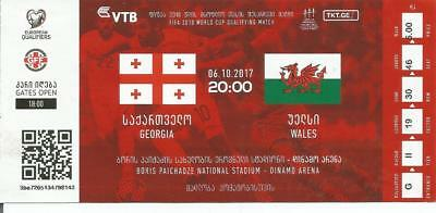GEORGIA v WALES  06/10/2017    MATCH TICKET