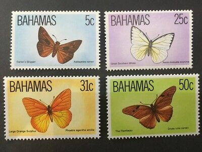 Bahamas 1983 SG653-656 MNH Wildlife Butterfly's Set of 4.