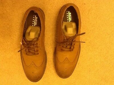 Mens Leather Brown/tan Brogue Shoes Size 8