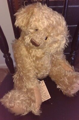 "Shenagh Large 18"" Mohair Artist Bear By Barbara's Originals, Usa"