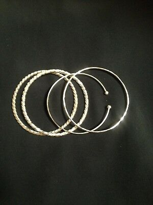 Sterling Silver Bangles X 4