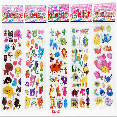 5pcs 3D Animal plant fruit kids' craft stickers teacher reward stickers lot C121