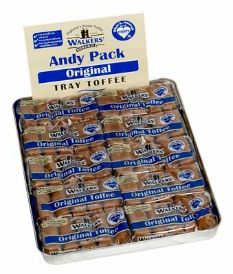 WALKERS NONSUCH Original Creamy Toffee Bars in Traditional Tin Tray 100 g (Pack