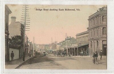 Vintage Postcard Bridge Rd, Richmond Victoria