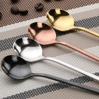 304 creative stainless steel coffee spoon small round spoons dessert stir soup