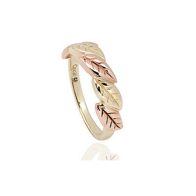 BRAND NEW OFFICIAL Clogau Gold Yellow & Rose Gold Awelon Ring £130 off! SIZE N