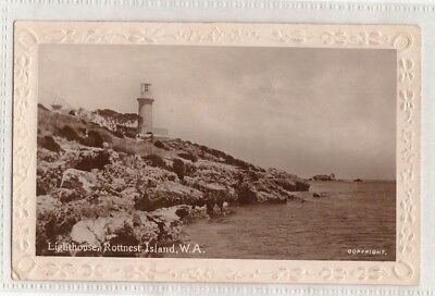 Vintage Postcard Lighthouse, Rottnest Isand W.a