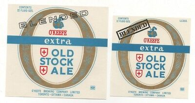 2 Old Beer Label / S  - Canada  -  O'keefe (G)