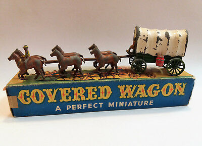 LESNEY MATCHBOX MADE IN ENGLAND - HORSE COVERED WAGON - ORIGINAL '50s TOY IN BOX