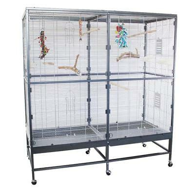 LARGE Spacious Indoor Aviary For Pet Bird Budgies Parakeets SMALL PARROTS Home