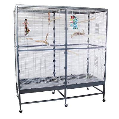 Indoor BIRD Aviary Pet Flying Spacious Cage For Budgies Cockatiels PARAKEETS New