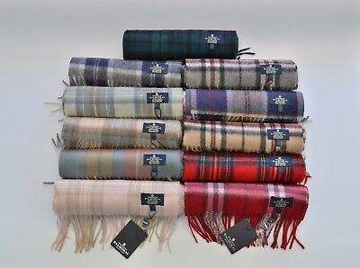 Scottish 100% Cashmere Tartan Scarf Womens Mens Scarves The House of BALMORAL