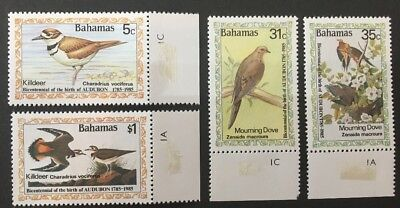 Bahamas 1985 SG708-711 MNH Bicentenary of Audubon Set of 4.