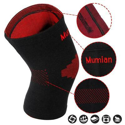 Knee Brace Support Pad Strap Guard Protector Gel Sports Work Out Elastic Pads BG