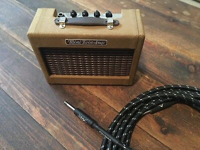 fender mini twin amp Hand lacquered + custom shop cable