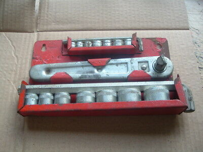 Vintage Set Of Wall Mounted Metric Sockets