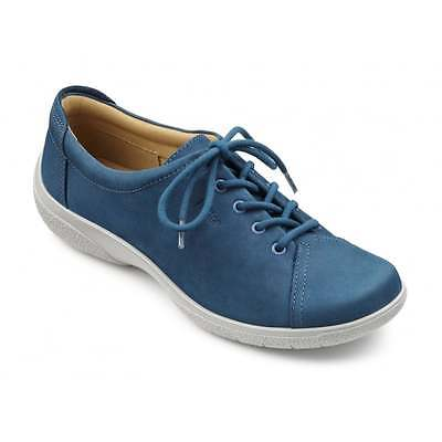 HOTTER Ladies SHOES Lace Up Leather BLUE  Size 5 / 38  - BNIB
