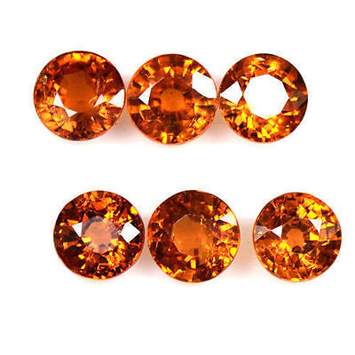 3.83 Cts Real Fanta Orange Mandarin Spessartite Garnet Round Lot Namibia 4.5 mm
