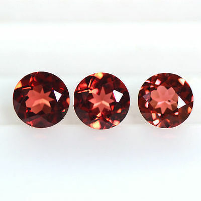 2.02 cts Natural Top Pyrope Red Garnet Loose Gemstone Round Cut Lot Mozambique