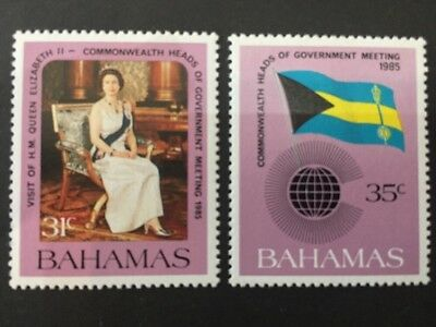 Bahamas 1985 SG718-719 Mint Commonwealth Government Meeting. Cat £6