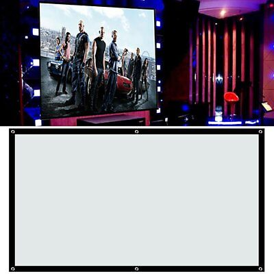"100"" Portable Projector Screen 16:9 4:3 Conference Presentation HD Projection SY"