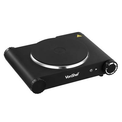 Black SINGLE HOT PLATE Corrosion Resistant Stainless Steel Easy Clean Overheat