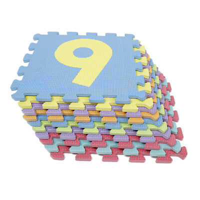 Kid Foam Learning 0 to 9 Numer Puzzle Floor Play Mats Tiles Exercise Gym YH