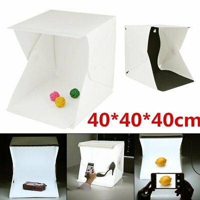 LED Light Room Photo Studio 16in Photography Lighting Tent Kit Mini Cube Box SH