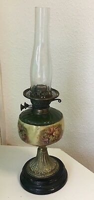 Large Antique Victorian Duplex Oil Lamp Art Nouveau