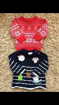 Next Christmas Jumpers Boys 3-6 Months