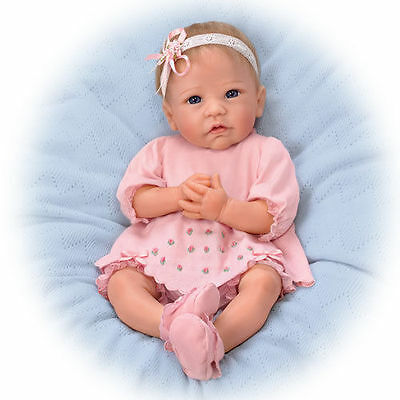 Ashton Drake- Claire Silicone Lifelike Baby Girl Doll by Linda Murray