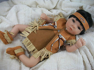 Ashton Drake - TUARI NATIVE AMERICAN INDIAN BABY DOLL BY EMILY JAMESON