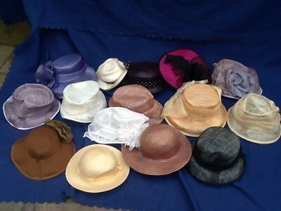 15 X Job Lot Ladies Mixed Style Formal Classic  Wedding Church Hats Carboot #1