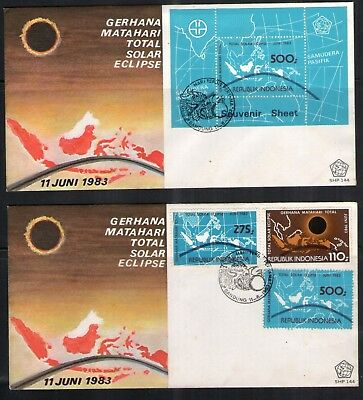 Indonesia stamp 1983 2 FDC Indonesia Total Solar Eclipse
