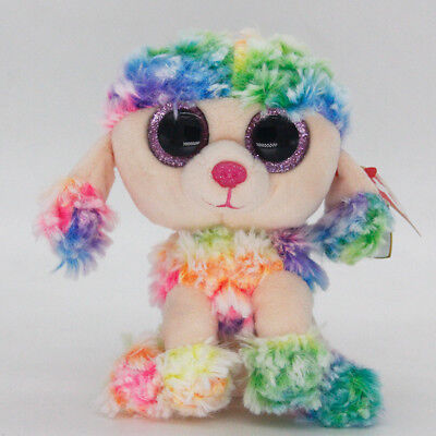 "Ty Beanie Boos 6"" Rainbow Stuffed Plush Toy Soft Animals Toys Girls&Boys Dolls"