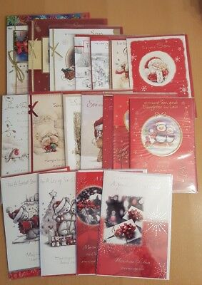 *JOB LOT* Christmas Cards - Son, Son & Daughter in Law,Son & Family (100 Cards)