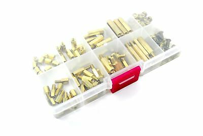 120pcs M3 Male Female Brass Standoff Set Spacer PCB Mount Flux Workshop