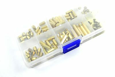 120pcs M2.5 Male Female Brass Standoff Set Spacer PCB Mount Flux Workshop