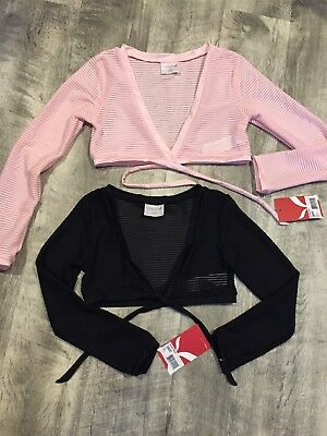 Capezio Front-Tie Ballet Dance Sweater - NEW - Black or Pink - multiple sizes gi